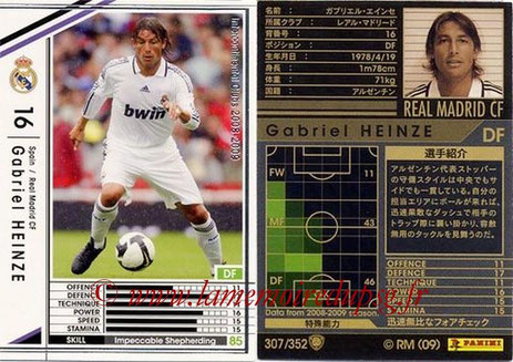 N° 307 - Gabriel HEINZE (2001-04, PSG > 2008-09, Real Madrid, ESP)