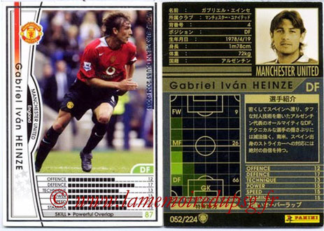 N° 052 - Gabriel HEINZE (2001-04, PSG > 2004-05, Manchester United, ANG)