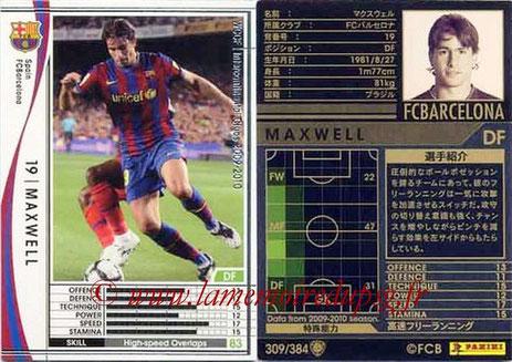 N° 309 - MAXWELL (2009-10, FC Barcelone, ESP > Janv 2012- ??, PSG)