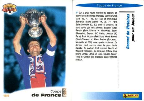N° R12 - Coupe de France - Record de victoires en pour un joueur