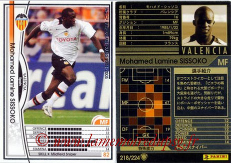 N° 218 - Mohamed SISSOKO (2004-05, FC Valencel, ESP > 2011-Jan 12, PSG)