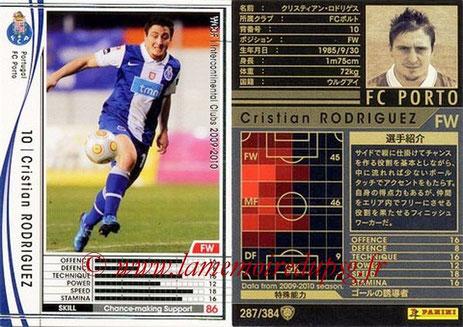 N° 287 - Cristian RODRIGUEZ (2005-08, PSG > 2009-10, Porto, POR)