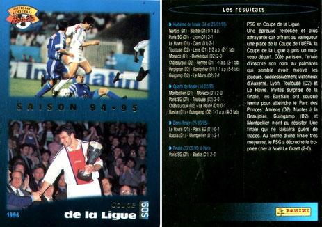 N° S09 - Parcours en Coupe de la Ligue 94-95