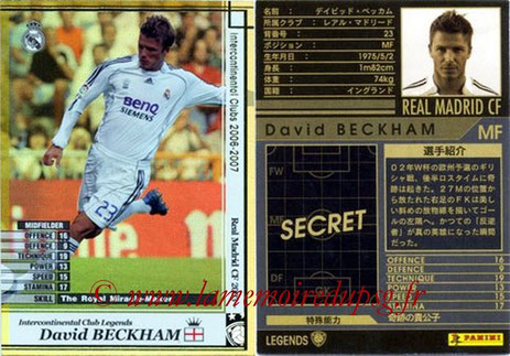 N° LE07 - David BECKHAM (2006-07, Real Madrid, ESP > Jan à juin 2013, PSG) (Legend)