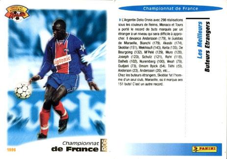 N° R06 - Championnat de France- Les meilleurs buteurs étrangers
