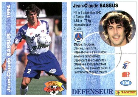 N° 104 - Jean-Luc SASSUS