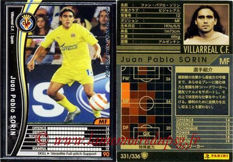 N° 331 - Juan Pablo SORIN (2003-04, PSG > 2005-06, Villareal, ESP)