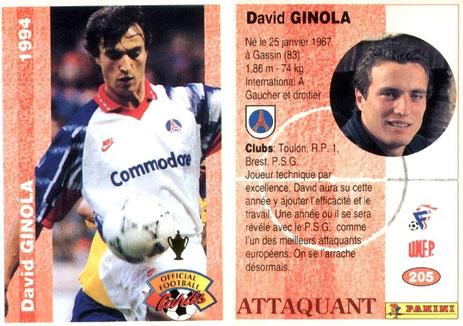 N° 205 - David GINOLA