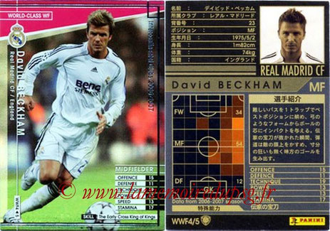 N° WWF4 - David BECKHAM (2006-07, Real Madrid, ESP > Jan à juin 2013, PSG) (World Class WF)
