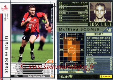 N° 167 - Mathieu BODMER (2006-07, Lille > 2010-Jan 2013, PSG)