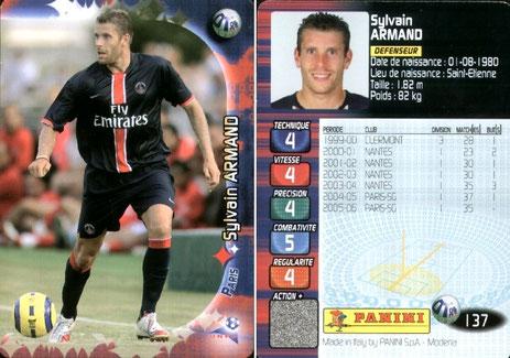 N° 137 - Sylvain ARMAND