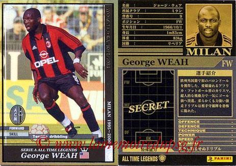N° ATLE01 - George WEAH (1992-95, PSG > 1995-00, Milan AC, §ITA)