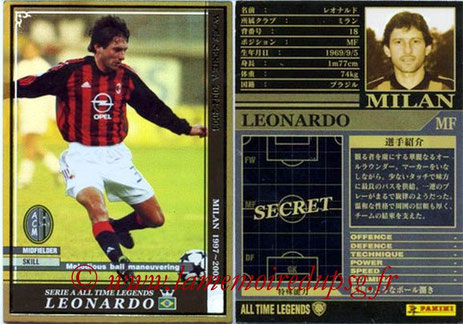 N° ATLE07 - LEONARDO (1996-Aout 97, PSG > Août 1997-03, Milan AC, ITA)