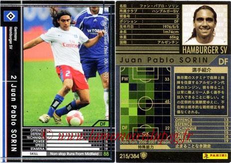 N° 215 - Juan Pablo SORIN (2003-04, PSG > 2006-07, Hambourg, ALL)
