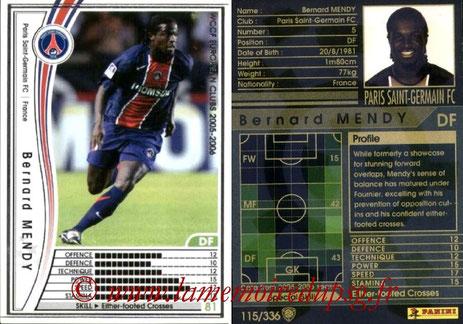 N° 115 - Bernard MENDY