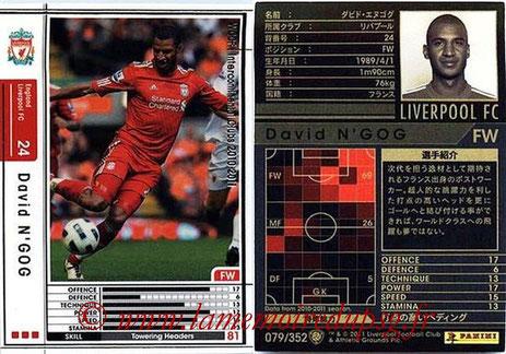 N° 079 - David N'GOG (2006-08, PSG > 2010-11, Liverpool, GBR)