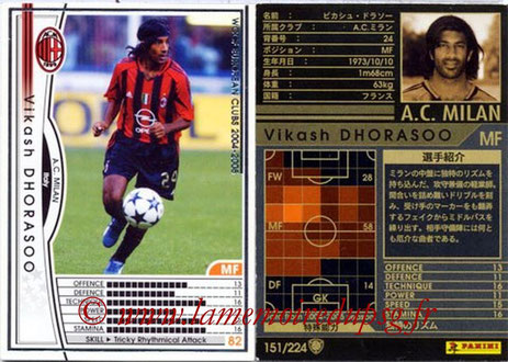 N° 151 - Vikash DHORASOO (2004-05, Milan AC, ITA > 2005-Oct 06, PSG)