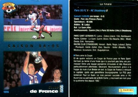 N° S08 - Parcours en Coupe de France