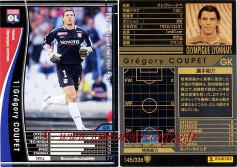 N° 145 - Grégory COUPET (2007-08, Lyon > 2009-11, PSG)