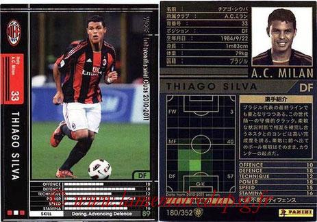 N° 165 - Thiago SILVA (2010-11, Milan AC, ITA > 2012-??, PSG)