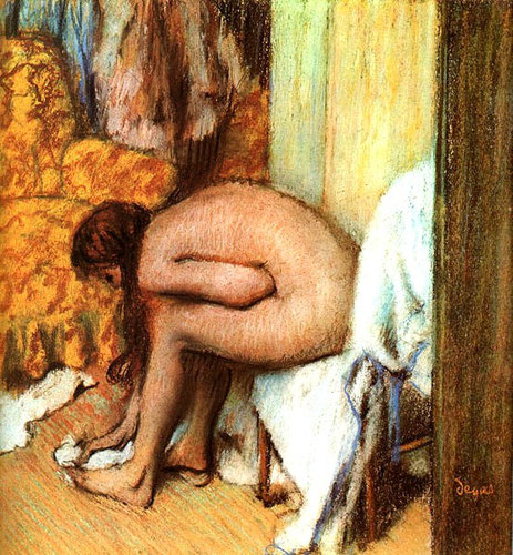 "Edgar Degas, ""Donna che si asciuga il piede"", 1886 (Paris, Musèe d'Orsay)"