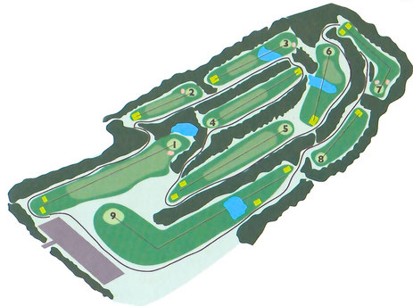 Map of Lebanon Pines Golf Course