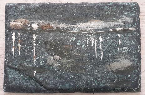 """""""Nacht """" brons gepatineerd    ( 9,5x 15 cm )"""