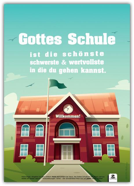 Plakat Gottes Schule A3