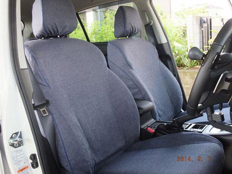 オーダーメイド カーシートカバー 製作事例 スバル インプレッサスポーツ 2.0i 横浜コットンハリウッド