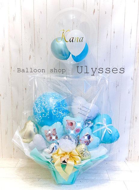 出産祝い 写真入りバルーン 誕生日 記念日 結婚祝い バルーンアート バルーンギフト 茨城県つくば市のバルーンショップユリシス 風船