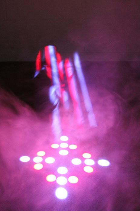 LED Scanner im Nebel