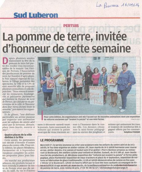 La Provence 16 septembre 2014