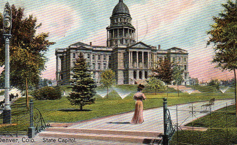 1908. Postal del State Capitol Building. Denver.