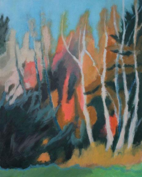 Waldrand 2, 2013 Acryl auf Leinwand 100x80