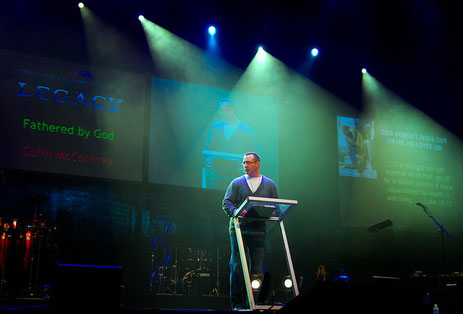 Rev. Colin McCartney speaking at a Canadian National Men's Conference.