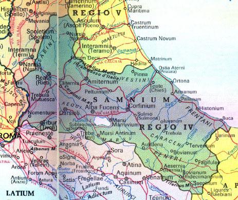 L'ancienne région de Samnium