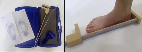 足のサイズ計測 フットプリント