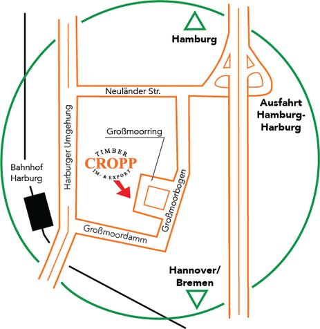 Lager Hamburg für Privatkunden und Geschäftskunden - Routenmap Karte so finden Sie uns!