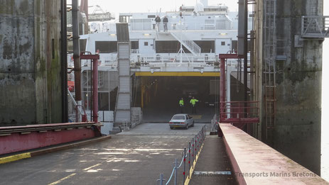 Access to the car deck of the Condor Liberation, seen whilst the ship was berthed in St-Malo.