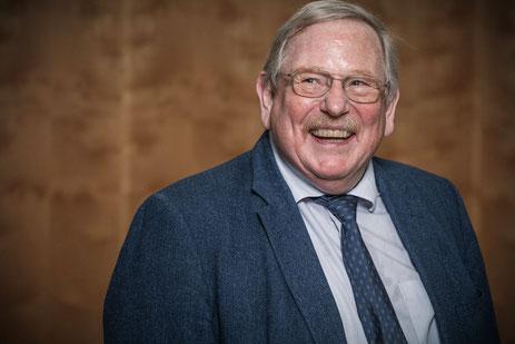 Foto von Reinhard Genzel bei der Verleihung vom Nobelpreis für Physik 2020