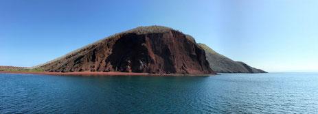 Die Insel Rábida kann nur während einer Kreuzfahrt auf den Galápagos Inseln besucht werden