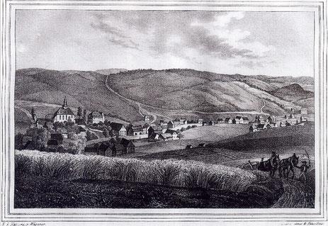 Burkhardtsdorf 1840 Quelle: Bildarchiv der Gemeinde