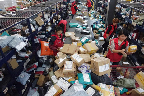 Much to do in China. The local express industry handled 30.26 billion parcels in eight months