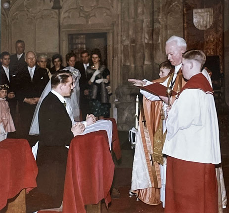 Trauung in der Lambertikirche mit Domkapitular Reinhold Friedrichs