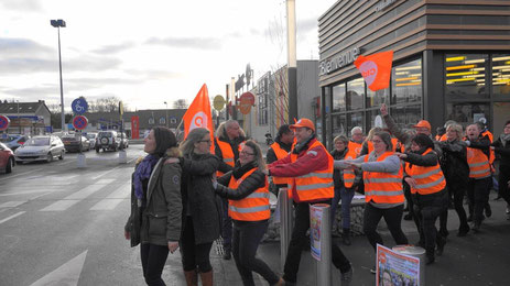 Les salariés de Carrefour Château-Thierry se sont mobilisés mardi 23 janvier 2018.