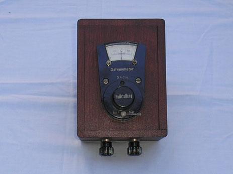 Fa. Kauhausen Berlin – Dahlem - Drehspul – Galvanometer zur Strommessung ( Gleichstrom ).  ca. 1920