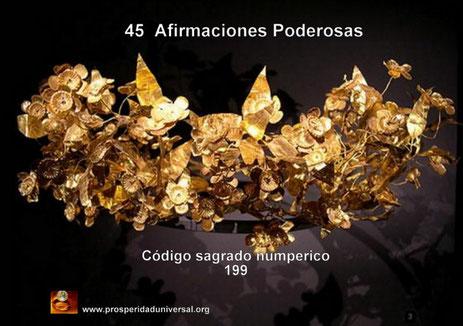 GANAR LA LOTERÍA AHORA, CÓDIGO SAGRADO NUMÉRICO 199 - 45 AFIRMACIONES PODEROSAS  II - PROSPERIDAD UNIVERSAL
