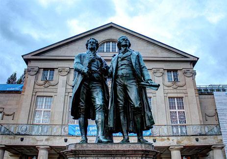 Goethe und Schiller-Denkmal von Ernst Rietschel