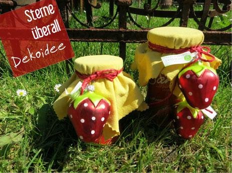 Christbaumschmuck, DIY, Erdbeere, Geschenk, Marmelade verschenken