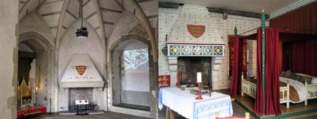 rekonstruierte hochmittelalterliche Räume im Tower of London